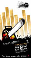 Plakat zur Abschlussausstellung der Grafik-Designer 2008